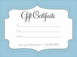 Printable Gift Certificate Templates Gift Certificate Template Pdf Fresh Printable Gift Certificate