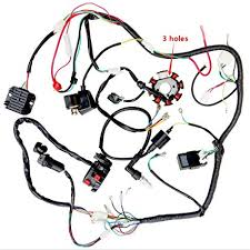 amazon com complete wiring harness kit wire loom electrics stator amazon com complete wiring harness kit wire loom electrics stator coil cdi for 150cc 300cc atv quad 4 four wheelers go kart dirt pit bikes 3 fixing