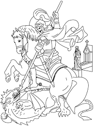 Another St George Catholic Coloring Page