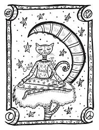 yoga kitties a stress relieving coloring book