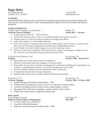 Property Manager Resume Experienced Sample Regional Samples