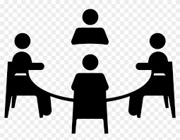 group of people clipart black and white. Plain Group Group Work Clipart Black And White  Focus Discussion Icon With Of People U