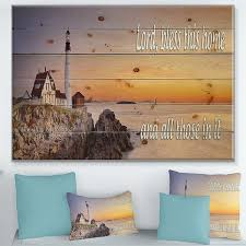 If you have any questions about your purchase or any other product for sale, our customer service. Designart Lord Bless This House And All Those In It Sunset Textual Entrance Art On Wood Wall Art Multi Color Overstock 23567066