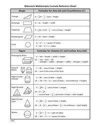Math Chart 8th Grade Formula 23 Best Math Images Math Math Formulas Mathematics