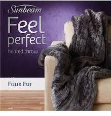 tr6100 feel perfect faux fur heated throw