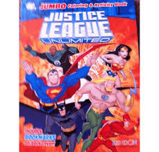 Dc comics superman jumbo coloring & activity book. Justice League Unlimited Jumbo Coloring And Activity Book 4