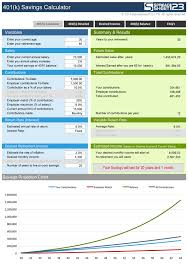 401 K Savings Calculator Free For Excel