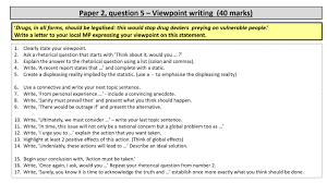 It will further help you maintain your study plan at the last moment so that you only revise by solving. Why I Love Aqa Paper 2 Question 5 Slow Writing A Process And Approach To Viewpoint Writing Susansenglish
