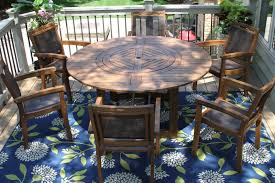 20663 eucalyptus round 63 in dia dining table with lazy susan with 10555dk