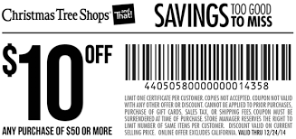 Pinned December 16th: $10 off $50 at Christmas #Tree Shops #coupon via The