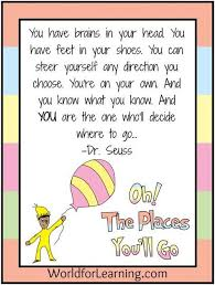 Dr Seuss Oh The Places You Ll Go Quotes Adorable Oh The Places You'll Go FREE Printable When I Grow Up