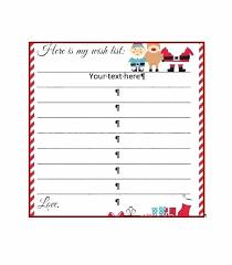 Printable Christmas Gift List Template Free Christmas Wish List Template