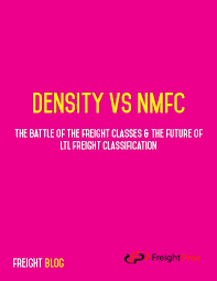 Density Vs Nmfc Battle Of The Ltl Freight Classes