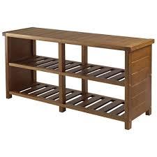 Keystone 2 Shelf Shoe Storage Bench Teak Benches Best Buy Canada Regarding  Modern Property Teak Storage Bench Remodel