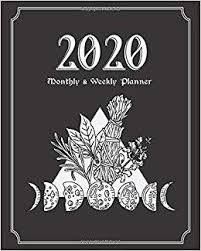 Wiccan Moon Chart Amazon Com 2020 Monthly And Weekly Planner Witchcraft Us