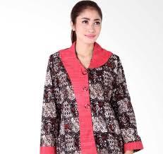 Desain baju batik kombinasi modern. 50 Model Baju Batik Wanita Kantor Lengan Panjang Terbaru