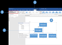 Building An Org Chart In Excel How To Create An Organization Chart Using Smartart In Word