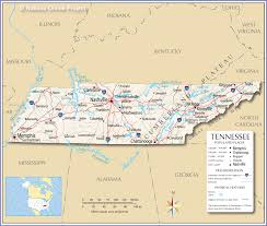 reference map of tennessee usa  nations online project