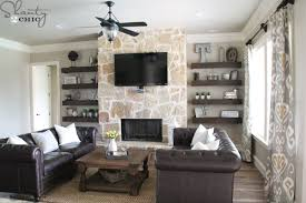 Interesting Design Ideas Shelves Next To Fireplace Contemporary DIY  Floating For My Living Room Shanty 2 Chic