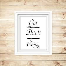 eat drink enjoy kitchen wall art decor on food and drink wall art with eat drink enjoy kitchen wall art decor enchanted creations by
