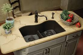 Elkay Kitchen Faucet Parts Kitchen Black Countertop Mixed With Stainless Kitchen Sink And