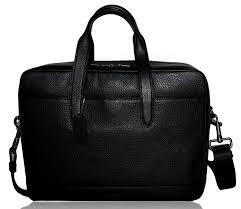com coach mens leather laptop overnight computer bag black briefcases