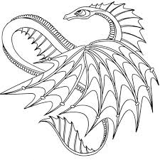 Awesome Dragon From How To Train Your Dragon Coloring Pages Bulk Color