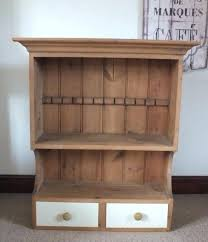 lovely vintage rustic pine shabby chic dresser top wall shelf and drawers unit shelves floating uk