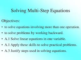 solving multi step equations powerpoint