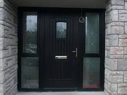 exterior doors with side panels glass