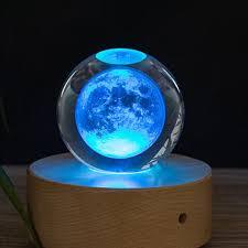 80MM K9 Moon Crystal Ball <b>Crafts</b> 3D Laser Moon <b>Home</b> ...