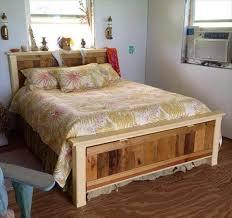 wooden bed made of pallets diy pallet queen