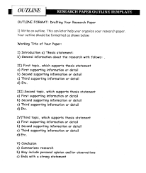 outline templates for research papers research paper outline format templates at