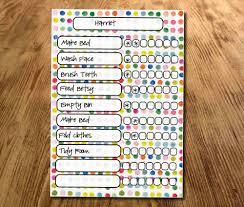 my responsibility chart chore chart spotty star chart my reward chart daily reward chart kids routine chart