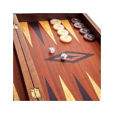 Handmade Wooden Board Games Backgammon Chess Checkers Game Set Handmade Mahogany Large 10