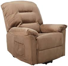 coaster casual brown sugar padded velvet upholstered power lift recliner