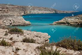 Europe Italy Sicily Lampedusa Rabbit Island Beach