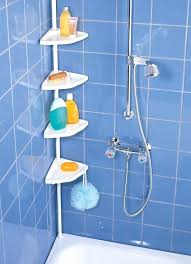 Telescopic Shower Corner Shelves Magnificent Bathroom Shower Corner Shelf Shower Soap Dish Bathroom Glass Corner