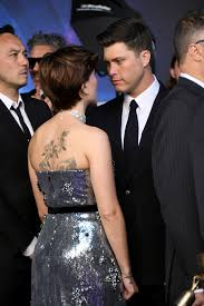 Scarlett Johanssons Back Tattoo We Caught A Rare Glimpse