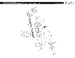 heckler koch full metal usp compact ns2 airsoft gas blowback gun user manual