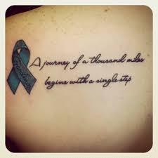 word tattoo designs. Modren Designs 3D Cancer Ribbon With Words Tattoo Design For Upper Back Inside Word Designs