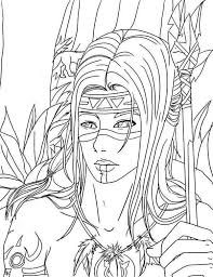 Small Picture Native American Warrior on Native American Day Coloring Page NetArt