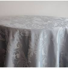 damask table cloths 132 round silver