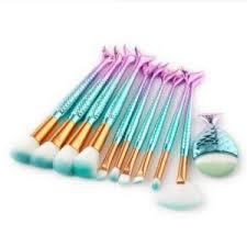 unicorn brush sets. glowii 11pcs fishtail mermaid purple-green makeup brush set unicorn sets