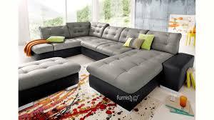 layefa modern u shaped leather sofa set