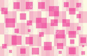Checker Pattern Unique Pink Pale Yellow Checker Pattern With Floating Hot Pink Squares