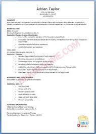 Resume Radiation Therapist Resume