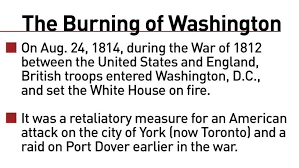 「The attack on Washington was in retaliation for an American attack on York, Canada,」の画像検索結果