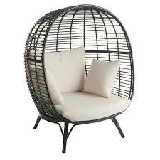 wilko garden snuggle egg chair rattan effect image 1