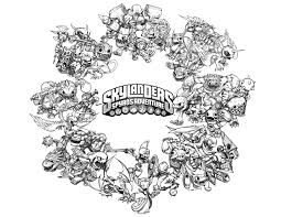 Skylanders Coloring Pages Crabfu Com Blog